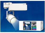 ULB-M08H-24W/NW WHITE Светильник светодиодный трековый. 24 Вт. 2000 Лм. Белый свет (4200К). Корпус белый. 6*16,8 см.