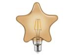Светодиодная филаментная лампа 6W 2200К E27 Звезда