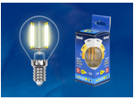 LED-G45-5W/WW/E14/CL/MB GLM10TR Лампа светодиодная. Форма «шар», прозрачная. Серия Multibright. Теплый белый свет (3000K). 100-50-10.