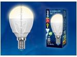 LED-G45 7W/WW/E14/FR PLP01WH Лампа светодиодная. Форма «шар», матовая. Серия ЯРКАЯ. Теплый белый свет (3000K).