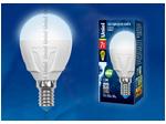 LED-G45 7W/NW/E14/FR PLP01WH Лампа светодиодная. Форма «шар», матовая. Серия ЯРКАЯ. Белый свет (4000K).