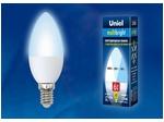 LED-C37-6W/NW/E14/FR/MB PLM11WH Лампа светодиодная. Форма «свеча», матовая. Серия Multibright. Белый свет (4000K). 100-50-10.