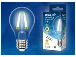 LED-A60-7W/NW/E27/CL/DIM GLA01TR Лампа светодиодная диммируемая. Форма A, прозрачная. Серия Air. Белый свет (4000K).