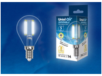 LED-G45-5W/NW/E14/CL/DIM GLA01TR Лампа светодиодная диммируемая. Форма шар, прозрачная. Серия Air. Белый свет (4000K).
