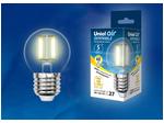 LED-G45-5W/WW/E27/CL/DIM GLA01TR Лампа светодиодная диммируемая. Форма шар, прозрачная. Серия Air. Теплый белый свет (3000K)