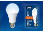 LED-A60-10W/NW/E27/FR/12-24V PLO55WH Лампа светодиодная. 12-24В. Форма «A», матовая. Белый свет (4000K). Картон. ТМ Uniel.