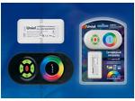 ULC-G10-RGB BLACK Контроллер для управления многоцветными светодиодными источниками света 12/24B с пультом ДУ 2,4ГГц. Цвет пульта черный.