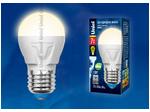 LED-G45 7W/WW/E27/FR PLP01WH Лампа светодиодная. Форма «шар», матовая. Серия ЯРКАЯ. Теплый белый свет (3000K).