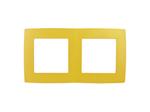 Рамка на 2 поста, жёлтый, 12-5002-21