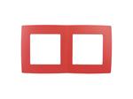 Рамка на 2 поста, красный, 12-5002-23