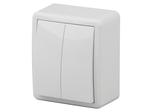 Выключатель двойной, 10АХ-250В, ОУ, Эксперт, белый, 11-1204-01