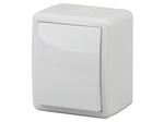 Выключатель IP54, 10АХ-250В, ОУ, Эксперт, белый, 11-1401-01