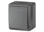 Выключатель IP54, 10АХ-250В, ОУ, Эксперт, серый, 11-1401-03