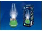 TLD-538 Green/LED/80Lm/5500K/Dimmer Светильник настольный «РЕТРО», 3W. Встроенный аккумулятор 400mAh. Зеленый.