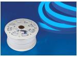 ULS-N21-2835-120LED/m-8mm-IP67-220V-8W/m-50M-BLUE Светодиодная гибкая герметичная лента. NEON. Бобина 50 м. Синий свет.