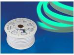 ULS-N21-2835-120LED/m-8mm-IP67-220V-8W/m-50M-GREEN Светодиодная гибкая герметичная лента. NEON. Бобина 50 м. Зеленый свет.