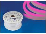 ULS-N21-2835-120LED/m-8mm-IP67-220V-8W/m-50M-PINK Светодиодная гибкая герметичная лента. NEON. Бобина 50 м. Розовый свет.