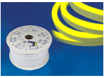 ULS-N21-2835-120LED/m-8mm-IP67-220V-8W/m-50M-YELLOW Светодиодная гибкая герметичная лента. NEON. Бобина 50 м. Желтый свет.