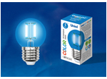 LED-G45-5W/BLUE/E27 GLA02BL Лампа светодиодная. Форма шар. Серия Air color. Синий свет.