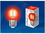 LED-G45-5W/RED/E27 GLA02RD Лампа светодиодная. Форма шар. Серия Air color. Красный свет.