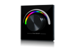 W-RGB (B) Радио панель встраиваемая в стену с валкодером на 1 зону  для RGB ленты. Черная