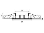 Светильник LEGA HI FIX MR16/HP16 ЗОЛОТО (011012)