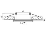 Светильник LEGA QUA ADJ MR16/HP16 НИКЕЛЬ (011035)