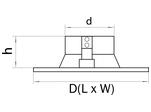 Рамка DOMINO ROUND МR16 ЧЕРНЫЙ (214617)