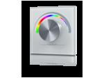 Радио панель W-RGB ( W ) встраиваемая в стену с валкодером на 1 зону  для RGB ленты, белая