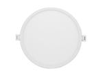 Светодиодная панель встраиваемая круглая 220В, 24Вт, CRI:80Ra, 1920Лм, Ф 220/208 мм,  алюминиевый корпус, изолированный драйвер, 2700К