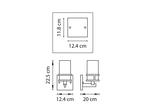 (SB1352/1) Бра CERO 1х40W E14 ЧЕРНЫЙ/ЗОЛОТО/БЕЛЫЙ (731617)