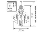 (MD800006-16+8+4) Люстра NATIVO 28x40W E14 КОНЬЯК (715287)