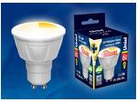LED-JCDR 6W/WW/GU10/FR/DIM PLP01WH Лампа светодиодная, диммируемая. Форма «JCDR», матовая. Серия ЯРКАЯ. Теплый белый свет (3000K).