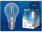 LED-A60-10W/4000K/E27/CL/DIM GLA01TR Лампа светодиодная диммируемая. Форма А, прозрачная. Серия Air. Белый свет (4000K).