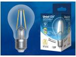 LED-A60-12W/4000K/E27/CL/DIM GLA01TR Лампа светодиодная диммируемая. Форма А, прозрачная. Серия Air. Белый свет (4000K).