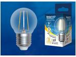 LED-G45-9W/3000K/E27/CL/DIM GLA01TR Лампа светодиодная диммируемая. Форма шар, прозрачная. Серия Air. Теплый белый свет (3000K).