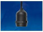 ULH-E27-IP54-150cm Патрон подвесной с защитой IP54, 150см. Цоколь Е27.