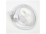 UCX-SP4/N22 WHITE 1 STICKER Провод электрический для светодиодных лент ULS-N22 RGB NEON 220В, 8x16мм, 4 контакта. Цвет белый.
