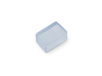 UCW-K14-CLEAR 025 POLYBAG Изолирующий зажим (заглушка) для светодиодной ленты 220В, 14-16х7мм, цвет прозрачный, 25 штук в пакете.