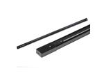 UBX-Q122 GS2 BLACK 200 SET01 Шинопровод осветительный. тип G. в наборе с заглушкой и вводом питания. Однофазный трековый. Черный. Длина 2м
