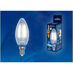 LED-C35-6W/WW/E14/FR PLS02WH Лампа светодиодная. Форма свеча, матовая. Серия Sky. Теплый белый свет.