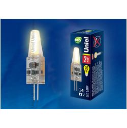 LED-JC-12/2W/WW/G4/CL Светодиодная лампа G4 с силиконовым покрытием. Теплый белый свет
