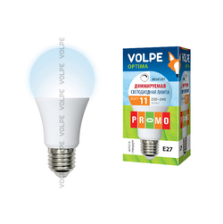 LED-A60-11W/NW/E27/FR/DIM/O Форма A, матовая. Белый свет. Серия Optima