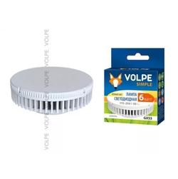 LED-GX53-6W/NW/GX53/FR/S Лампа светодиодная GX53 . Матовый рассеиватель. Материал корпуса термопластик. Цвет свечения белый. Серия Simple. Упаковка картон
