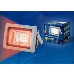 ULF-S04-10W/RED IP65 85-265В GREY Прожектор светодиодный 10Вт. Корпус серый. Свечение красный. IP65