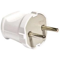 Вилка электричическая без заземления белая 6А 250В (еврослот)