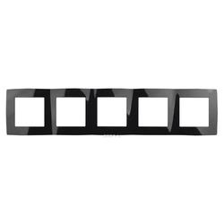 Рамка на 5 постов, чёрный, 12-5005-06
