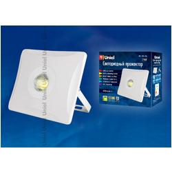 ULF-F11-50W/NW IP65 180-240В WHITE Прожектор светодиодный. Корпус белый. Белый свет.