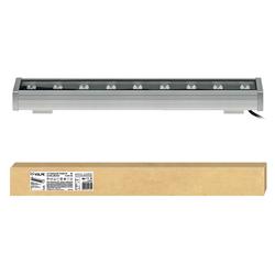 ULF-Q552 9W/WW IP65 SILVER Прожектор светодиодный линейный, 500мм. Теплый белый свет. Угол 45 градусов.