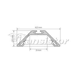 Профиль SL-ZOOM-64-2000 ANOD Угловой подвесной профиль для линейных светильников. Анодированный алюминий. Длина 2000мм.